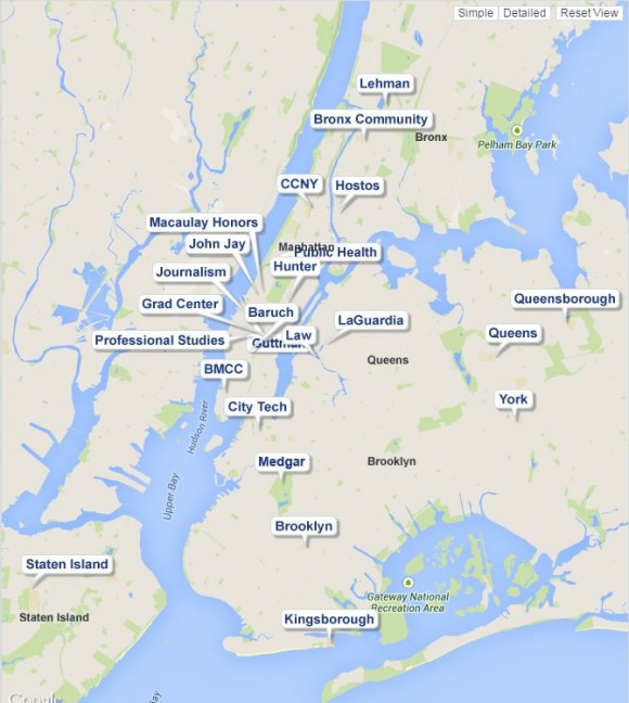 Googlemap embed on the CUNY website. Click for live map: http://www.cuny.edu/about/colleges.html